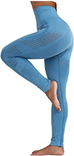 neveraway Women Hollow Out Jeggings Knitted Fitness Breathable Yoga Pants