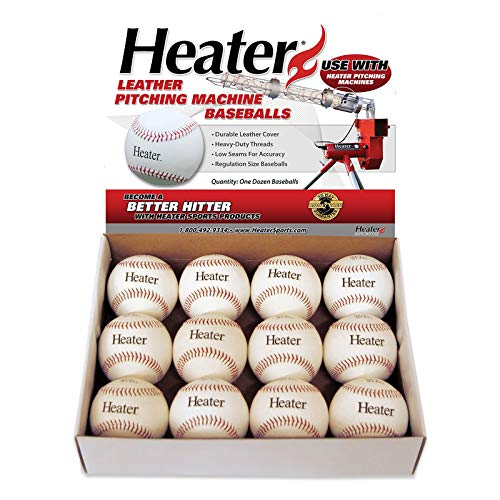 Trend Sports Heater Leather Pitching Machine Baseballs by The Dozen