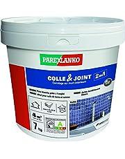Parexlanko 2-in-1 lijm & voegmassa voor het verlijmen van tegels en voor de productie van waterbestendige voegen, klaar voor gebruik in vochtige ruimtes, wit, 7 kg