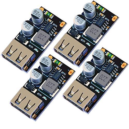 LGDehome 4 x USB Abwärtswandler DC-DC Step Down Modul 6–32 V 12 V 24 V auf 5 V QC 3.0 Lademodul Netzteil Spannungsregler Spannungswandler Board