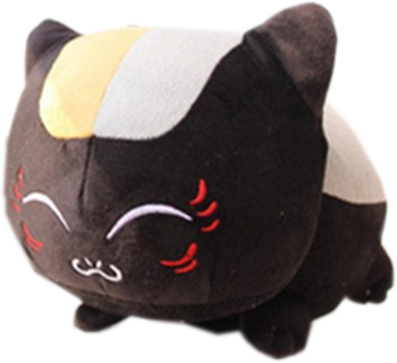 [Trendy Comfy] Cute Comic Cat Teacher Plush Toy Doll Gift Doll Hold Pillow (Blacksquint) 23.4