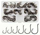 Circle Hooks - Extremely sharp, offset ponit, special barb hooks is designed to ensure that the hook point rolls in the corner of the fish's mouth and lowers fish mortality. Saltwater Hooks - Strong high carbon steel hooks without bending easily and ...