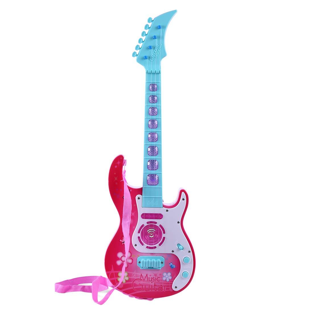 PHYNEDI Guitarra eléctrica Niños, Juguetes Musicales Guitarra con ...