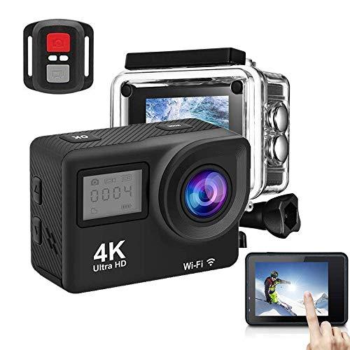 Action Camera, 4K 170 Degree Wide Angle WiFi Waterproof...