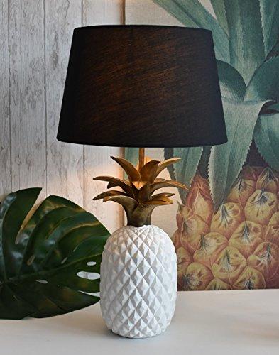 Pineapple Tischleuchte Ananas Gold Lampe Tischlampe Nachttischlampe Palazzo Exklusiv