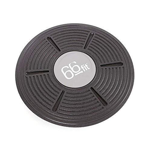 66 Fit - Tavola per Equilibrio, in plastica, Colore: Nero
