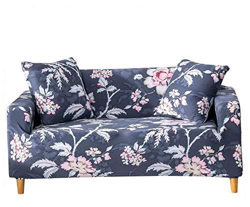 PANDAWDD Sofa-Überwürfe Sofa Abdeckung Blauer Hirtenabdruck Couch Covers 1 Sitzer Schonbezug, Easy Stretch Elastic Fabric Sofa Protector Slip Cover Waschbar, Für Wohnzimmer Und Schlafzimmer