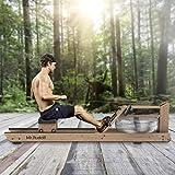 Mr Rudolf Máquina de remo de agua de madera con monitor de potencia, madera de roble