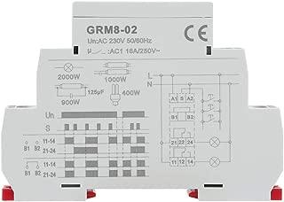 GRM8-02 Electronic Impulse Relay Din Rail AC 230V Latching Memory Relay Impulse