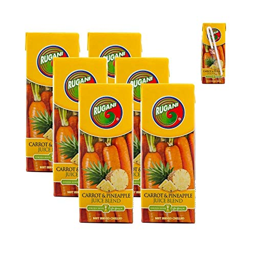 Pineapple and Carrot Juice Blend Lunchbox Pack – 100% Pure Natural Fresh Veg Juice Health Drink (6x330ml)