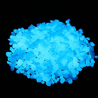 Glow in The Dark Decorative Gravel,Fish Tank Aquarium Gravel,Glow Rocks Stones for Fairy Garden and Home (5-8mm, Sky Blue)