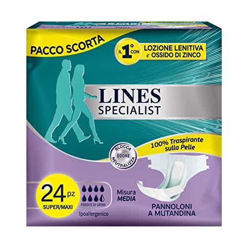 Lines Specialist luier van moeder, 12 stuks voor incontinentie voor dames en heren, maat M