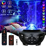 Galaxy Projector Star Projector Night Lights for Kids Room with Music Bluetooth Speaker Voice/Remote Control Timer, Multicolor Ocean Wave Stars 3 in 1 Galaxy Light 360 Pro Projector for Bedroom