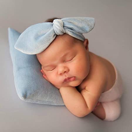 Wuqiong 2PCS//Set Newborn Photography Props Posing Support Pillow Baby Boy Girl Photo Shoot Studio Round Head Poser Prop