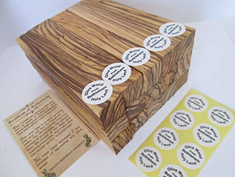 20 -Authentic-Premium Quality Bethlehem Holy Land Olive Wood Pen Blanks