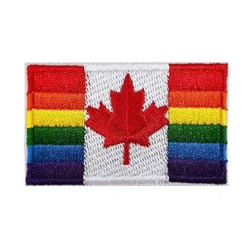 Aufnäher mit Regenbogen-Flagge LGBT, bestickt, zum Aufbügeln