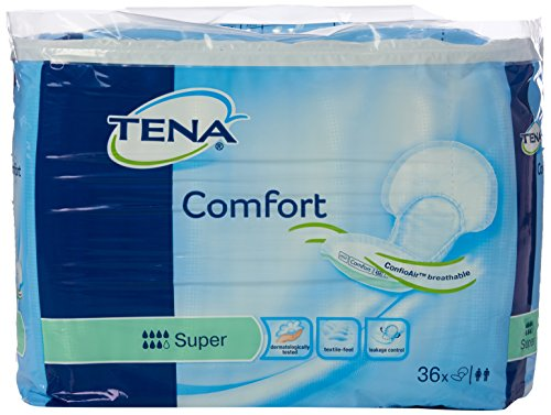 Tena Comfort - Compresas para pérdidas de orina, tamaño súper (36 unidades)