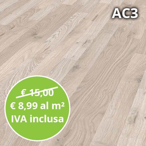 Pavimento in Laminato Frassino Scandinavo Confezione Da 2.47 Mq | AC3