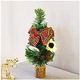 Bonsáis Mini árbol de navidad artificial de Navidad del árbol de pino con las decoraciones del árbol de abeto verde Red Berry decoración decorativo interior (dos tamaños) Árbol bonsai ( Color : B )