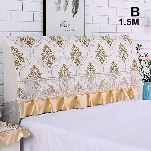 TOPCL - Funda para cabecero de cama elástica, a prueba de polvo, cobertura completa, cubierta para el respaldo, todo incluido, cabeceros de cama, funda protectora de madera y cuero, beige, B bigness :1.5M
