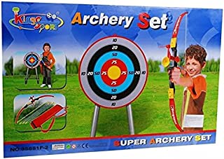 Kings Sport Kids Toy Archery Set With Target Bow Arrows and Stand