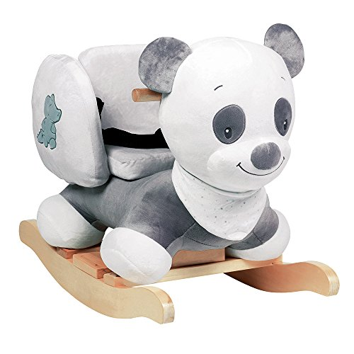 Nattou schommeldier, 10-36 maanden, 60 x 39 x 50 cm, grijs/wit Panda Loulou Panda Loulou