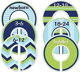 Mumsy Goose Baby Nursery Closet Dividers, Closet Organizers, Nursery Decor, Baby Boy, Blue Green Nautical