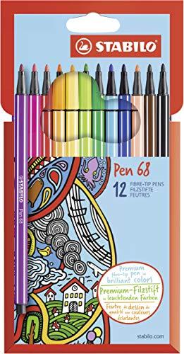Pennarello Premium - STABILO Pen 68 - Astuccio in Cartone da 12 - Colori assortiti