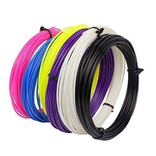 Fucaiqian CCH-YS Materiales, 5pcs / Set Impresora 3D Pen filamento ABS/PLA 1,75 mm 20meter / pcs de Goma plástica de Consumo de Materiales 3D Pluma de filamento (Color : 5PCS ABS)