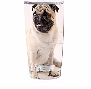 Skin Decal Vinyl Wrap for Yeti 20 oz Rambler Tumbler / Pug Mug, cute pug