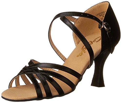 """Capezio Women's Rosa 2.5"""" Social Dance Shoe,Black,8.5 M US"""