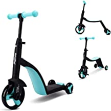Mopoq 3 In 1 Children Scooter One And A Half Years Old Baby Scooter 3-5 Years Old Children Tricycle Three Modes One Button...