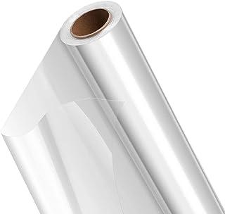TANCUDER Rouleau de Cellophane Transparent 30m Rouleau Papier Transparent Fleuriste Rouleau Cellophane Emballage Coupable ...
