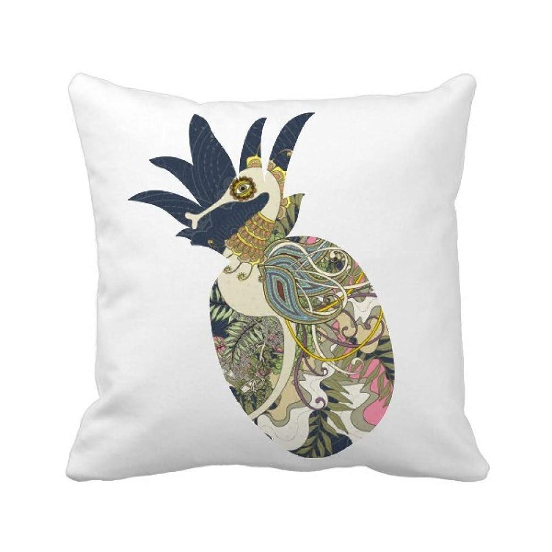 通訳傘あからさま花は日本の海馬の浮世絵 パイナップル枕カバー正方形を投げる 50cm x 50cm