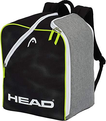 HEAD Boot Skischuhtasche, Antracite/Grey/Neon Yellow, 40 x 39.5 x 26.5 cm/30 L