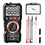 Digital Multimeter TRMS 6000 Counts, LED Intelligent Indicator Jack, Manul Ranging Measuring AC/DC Voltage,AC/DC Current,Resistance,Capacitance,Frequency/Duty,Diode, Continuity test, NCV+LIVE