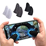 GO OFFER Pubg Anti-Slip Thumb Sleeve, Slip-Proof Sweat-Proof Professional Touch Screen Thumbs Finger Sleeve for Pubg Mobile Phone Game Gaming Gloves Made up of Rare Material(1 Pair)