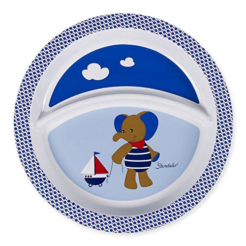 Sterntaler Assiette Bébé, Eléphant Erwin, Âge: Pour les bébés à partir de 6 mois, Bleu