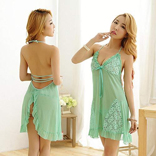Dames Erotische Slaapkleding & Robe Sets Erotische Kostuums Kleding Vrouwen Sling Kant Sexy Lingerie Transparant Grote Maat Met Sexy Pyjama