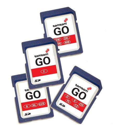 Tomtom Karte Italien für Tomtom GO 300/500 / 700 / One mit zusätzlichem Kartenmaterial auf SD Karte Plus wichtigste Strassen Europas