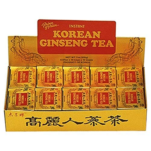 Prince Of Peace Instant Korean Panax Ginseng Tea - 100Count - PACK OF 4
