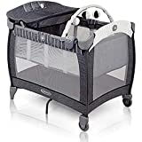 Graco Contour Electra Travel Cot with Integrated Changing Table, Night Light, Music and Vibration, Suits Me