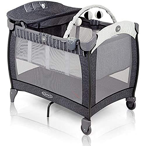 Graco Contour Electra Travel Cot with Integrated Changing Table, Music and...