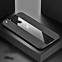 Jiangym Oppo Cases for Oppo A73 Stitching Cloth Textue Shockproof TPU Protective Case(Black) Oppo Cases (Color : Black)
