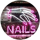 ADVPRO Nails Beauty Salon Indoor Display Dual Color LED Neon Sign White & Purple 16' x 12' st6s43-i2553-wp