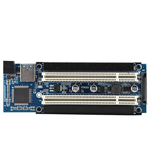 Bewinner PCIe-zu-PCI-Erweiterungsadapter Tragbare Audio- und Video-Capture-Karte mit Zwei Steckplätzen, 33 MHz, 32-Bit-Dual-PCI-Steckplatz in voller Größe, Audio-Video-Grabber-Konverter