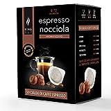 King Cup - Paquete de 50 Bolsitas de Café con Aroma a Avellana, Monodosis Compatibles con Máquina de Café E.S.E. dm 44mm, Con Sabor a Avellana, Cápsula Compostables Biodegradable