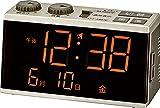 MAG らくらく電波時計 デジタル 簡単操作 目覚まし時計 カレンダー機能付き シャンペンゴールド T-696 CGM