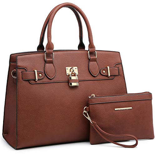 Dasein Women Handbags and Purses Ladies Shoulder Bag Top Handle Satchel Tote Work Bag with Wallet