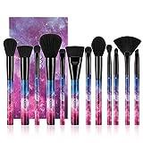 Brochas de Maquillaje 12 Piezas de Docolor, Galaxy Star, Cerdas de Fibra Sintética Suaves y sin Crueldad